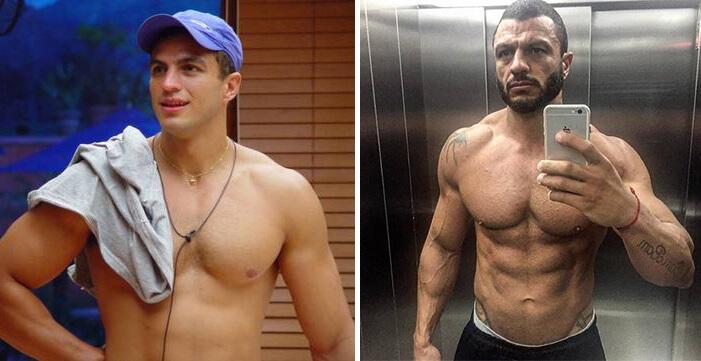 Kleber Bambam antes e depois da academia