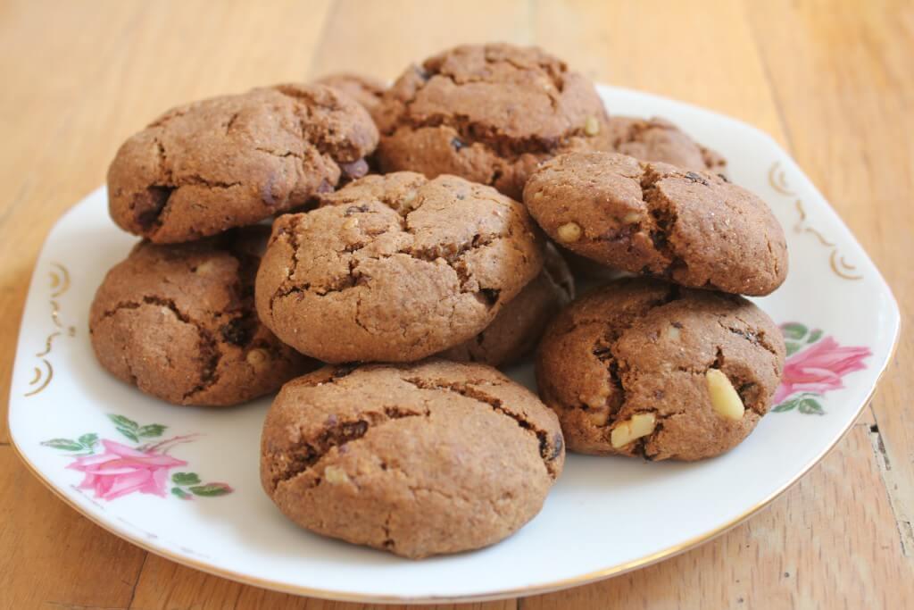 Cookie de alfarroba